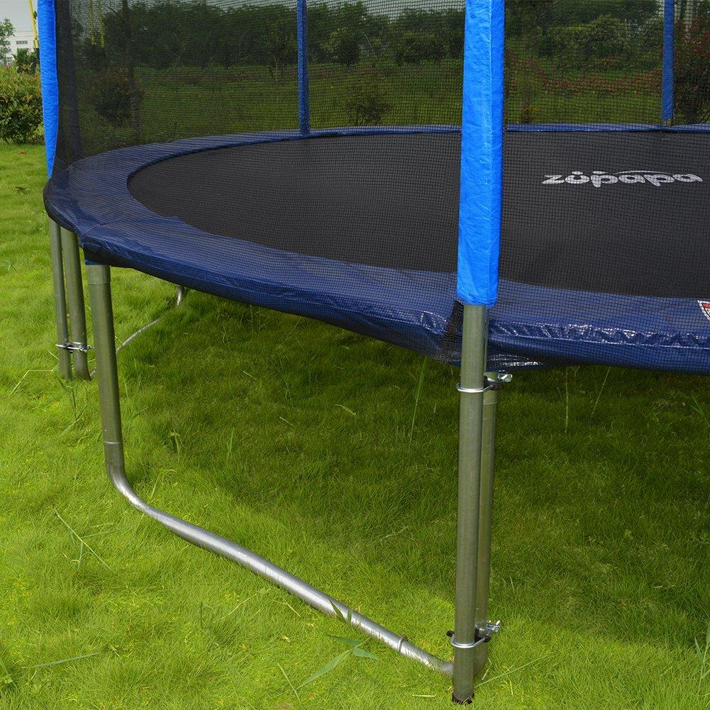 zupapa trampoline reviews 12 14 u0026 15 ft good for only 1 jumper